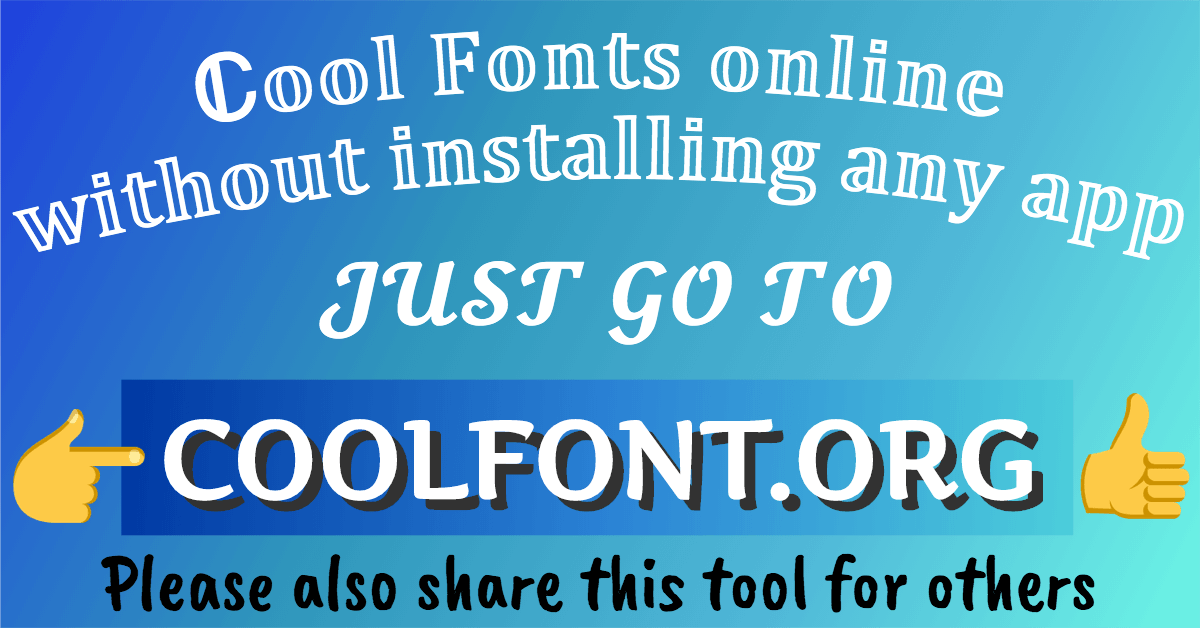 Cool Text Fonts For Roblox